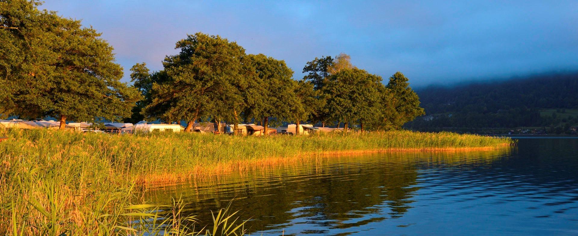 Camping in sterreich k rnten direkt am see seecamping for Ferien am see